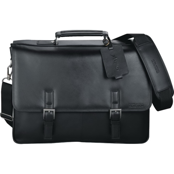 Promotional Kenneth Cole (R) Manhattan Leather Compu-Messenger Bag