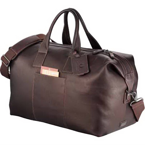 Printed Kenneth Cole (R) Columbian Leather Weekender Duffel Bag