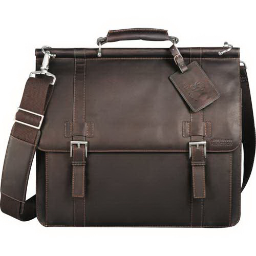 Personalized Kenneth Cole (R) Colombian Leather Dowel Rod Messenger Bag