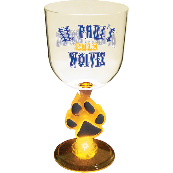 Custom 14oz Lighted Novelty Stem Goblet Glass