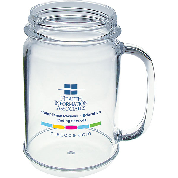 Customized 16oz Mason Jar Mug