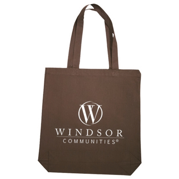 Printed Economical Tote Bag With Gusset
