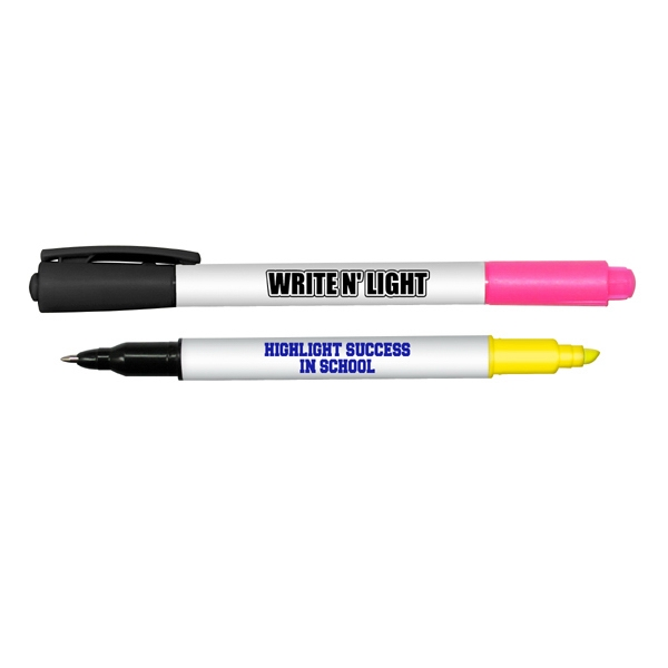 Promotional Write n Light Highlighter and Pen combo