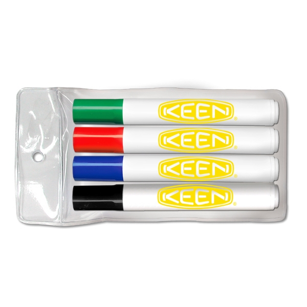 Printed Four pack of low odor dry erase markers