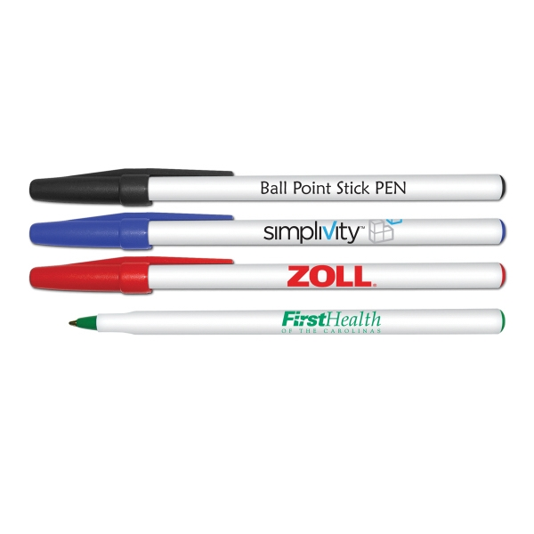 Imprinted Rou nd Ball Point Stick Pen