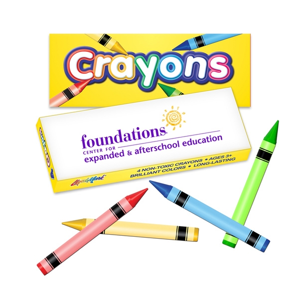 Promotional Four Pack Crayon Box