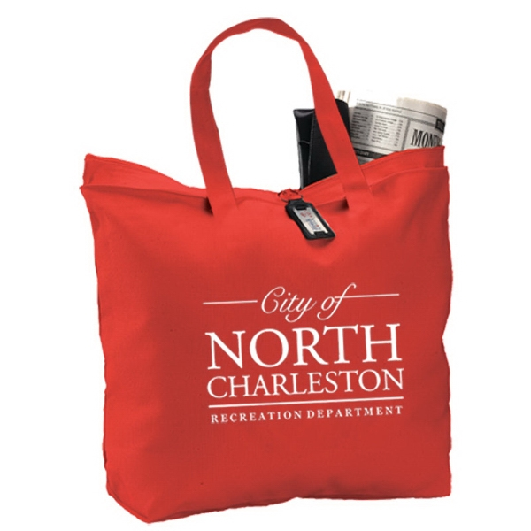 Personalized Canvas Zipper Tote