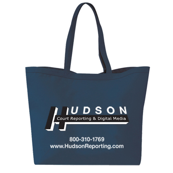 Personalized Canvas Gusset Shopping Tote