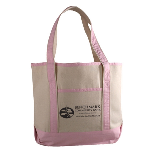 Printed Canvas Deluxe Tote
