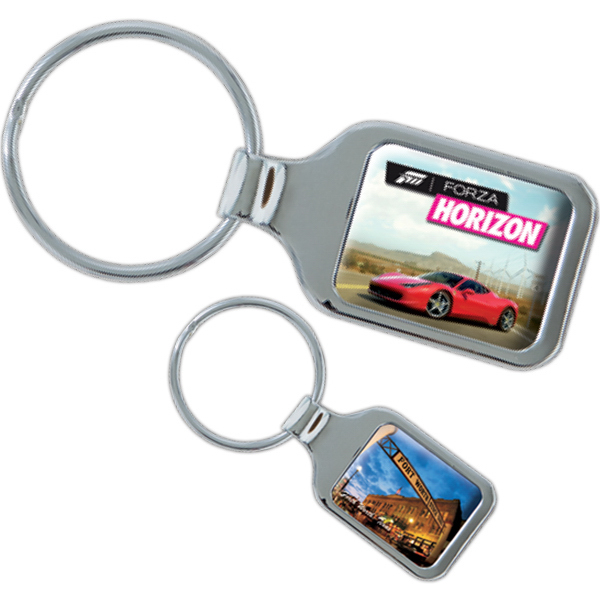 Customized Silverado Die Cast Metal Domed Keytag