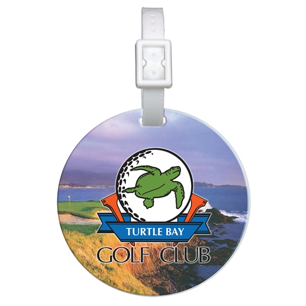 Promotional Domed Round Golf Bag Tag