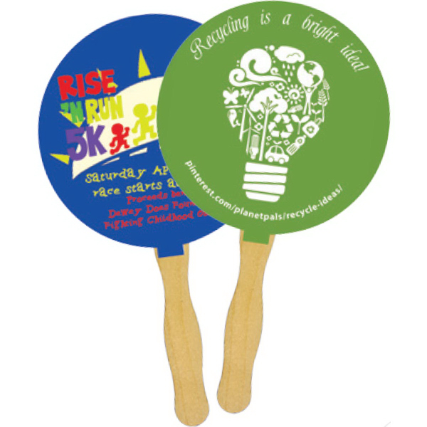 Personalized Mini Hand Fan with Glued Handle