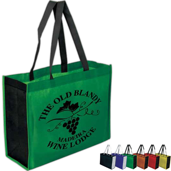 "Custom Two-Toned 16"" x 12"" plus 6"" Gusseted Tote Bag"