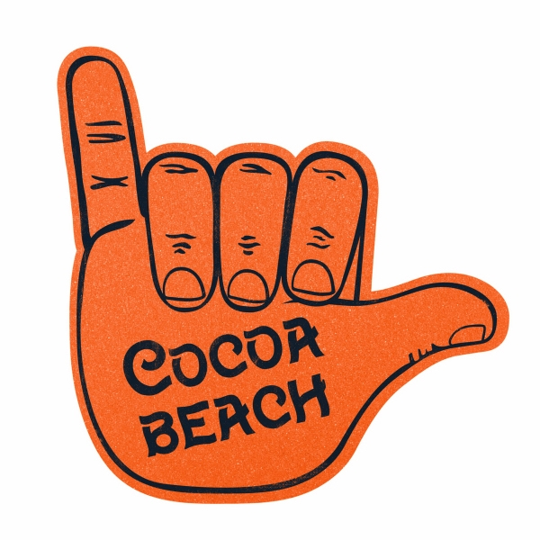 "Printed 14"" Hang Loose foam hand mitt"