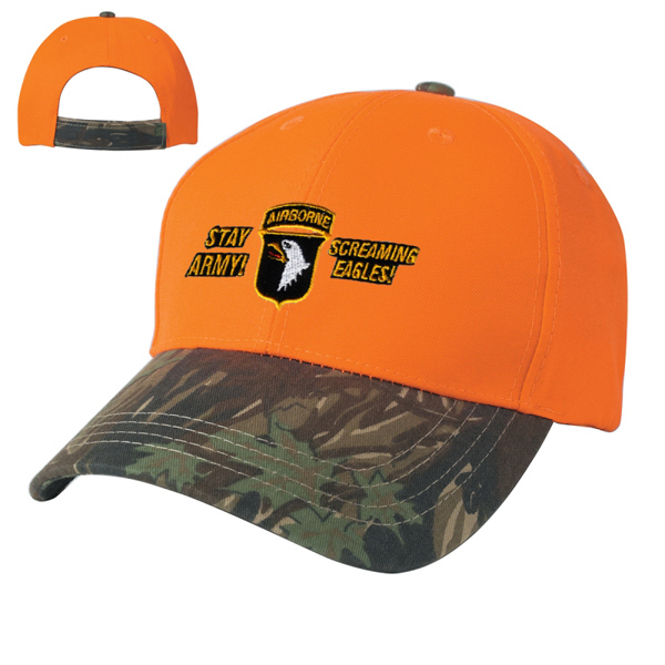 Imprinted Two-Tone Camouflage Cap