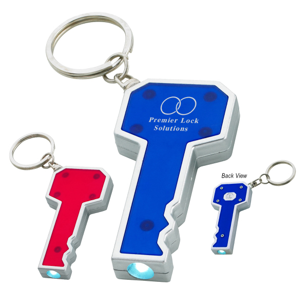 Promotional Key Shape LED Key Chain