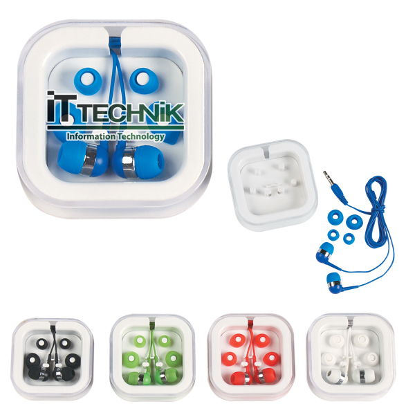 Imprinted Ear Buds in Case