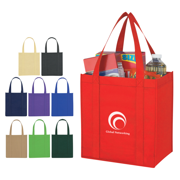 Personalized Non-Woven Avenue Shopper Tote Bag