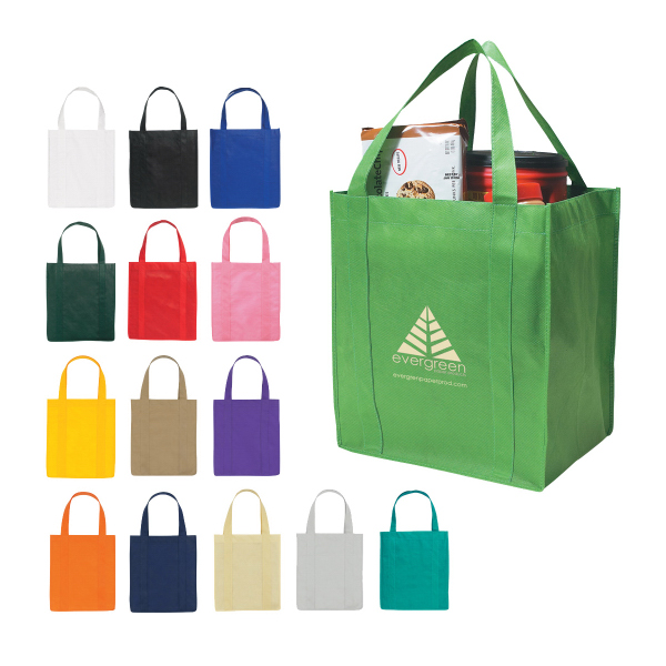 Imprinted Non-Woven Shopper Tote Bag