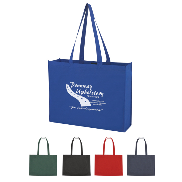 Promotional Non-Woven Shopper Tote with Velcro (R) Closure
