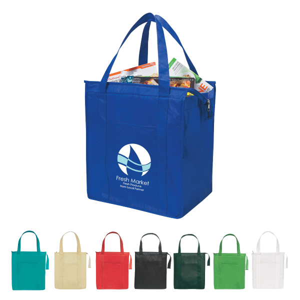 Customized Non-Woven Insulated Shopper Tote Bag