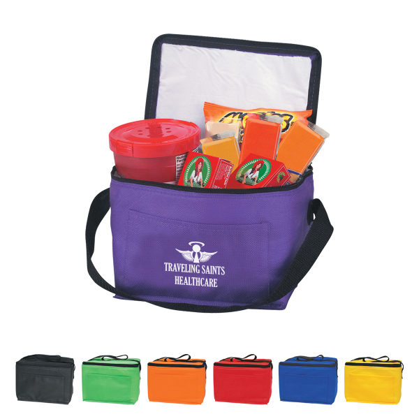 Promotional Non-Woven Insulated Six Pack Kooler Bag