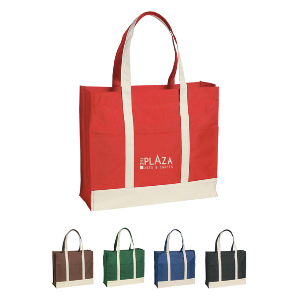 Imprinted Two-Tone Tote Bag