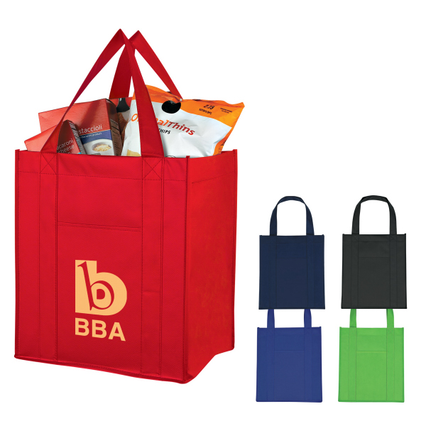 Imprinted Matte Laminated Non-Woven Shopper Tote