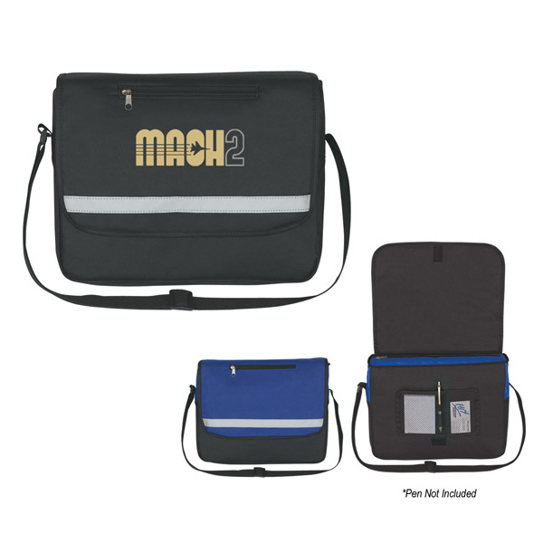 Promotional Non-Woven Reflective Messenger Bag