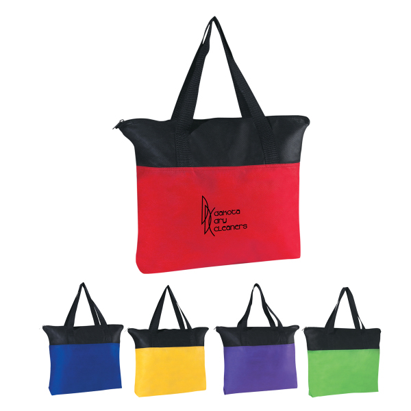 Personalized Non-Woven Zippered Tote Bag