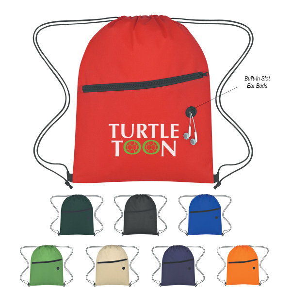 Customized Non-Woven Hit Sports Pack With Front Zipper