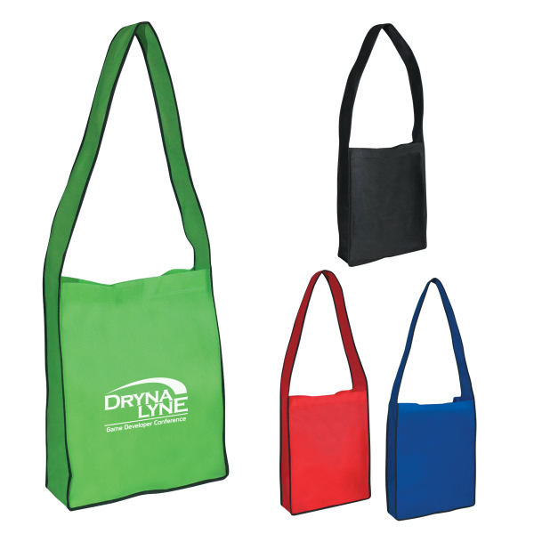 Promotional Non-Woven Messenger Tote With Velcro (R) Closure