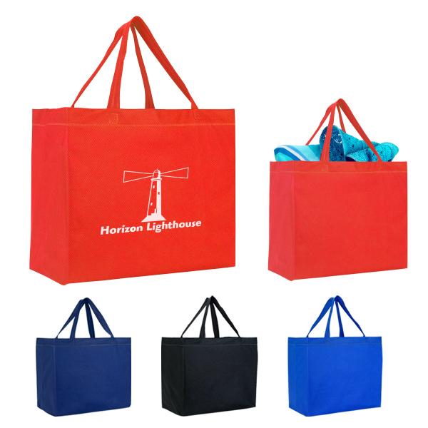 Custom Heat Sealed Non-Woven Grande Tote Bag