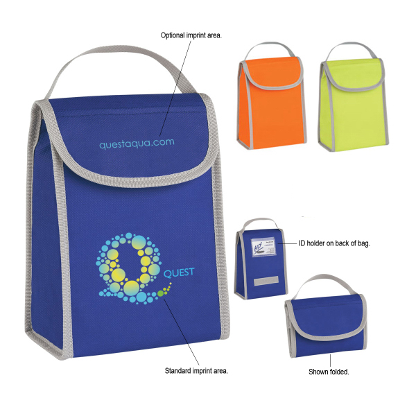 Promotional Non-Woven Folding Identification Lunch Bag