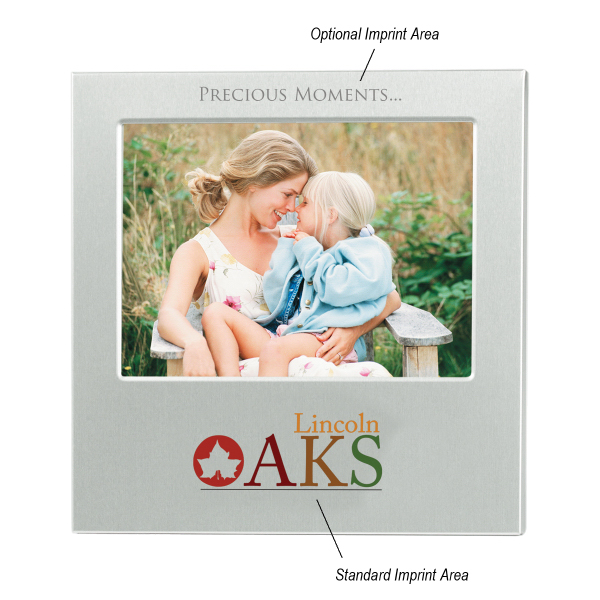 "Imprinted 4"" x 6"" Aluminum Photo Frame"