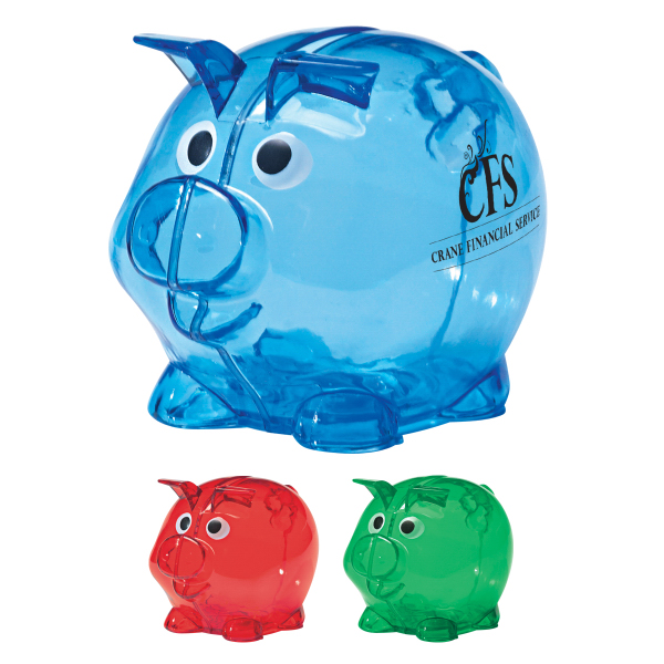 Personalized Mini Plastic Piggy Bank