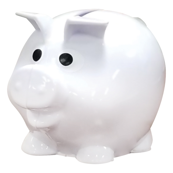 Personalized mini plastic piggy bank usimprints for Mini piggy banks