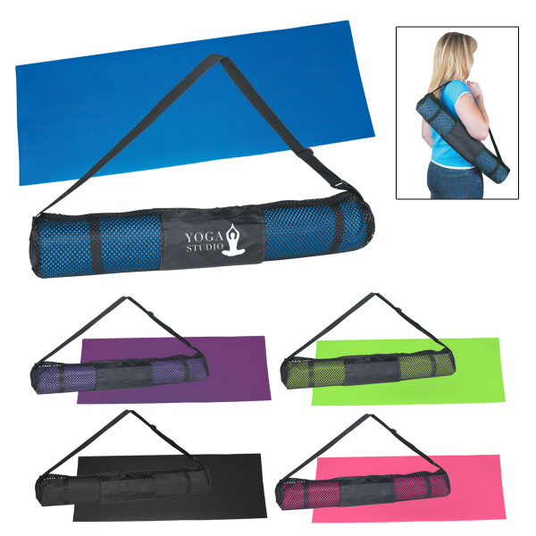 Printed Yoga Mat And Carrying Case