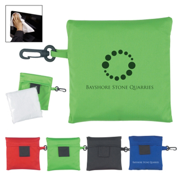 Personalized Microfiber Screen Cleaner In Pouch
