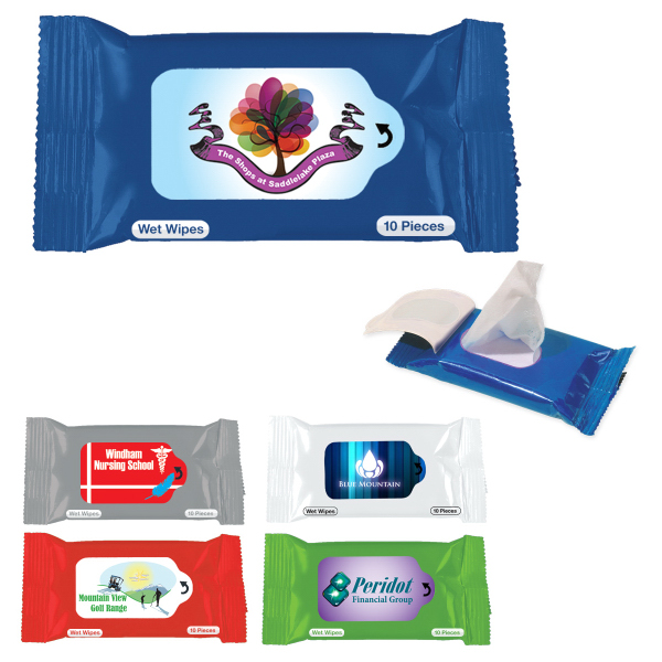 Imprinted Antibacterial Wet Wipe Packet