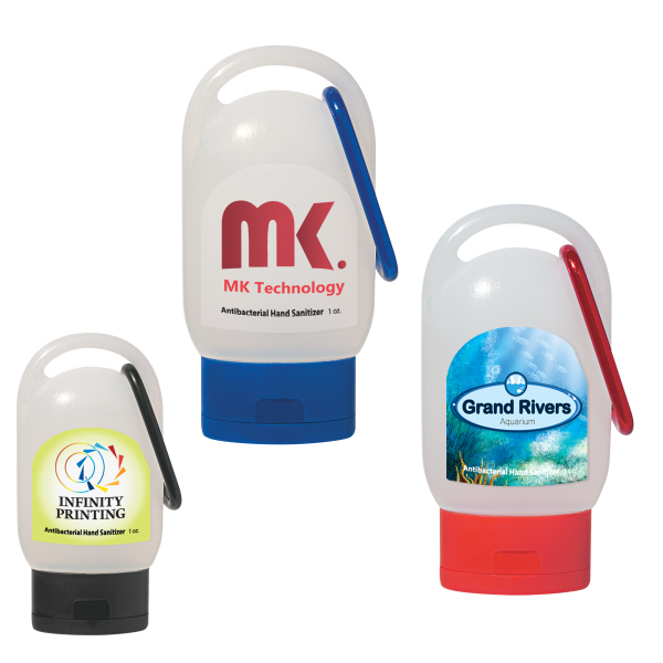 Customized Hand Sanitizer, 1 oz With Carabiner