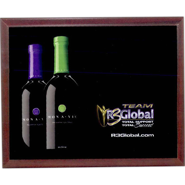 Imprinted Vcolor prestige plaque