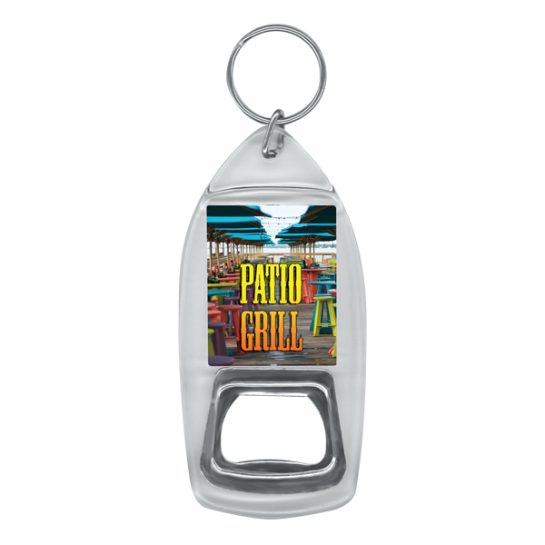 Customized Full color bottle opener key ring
