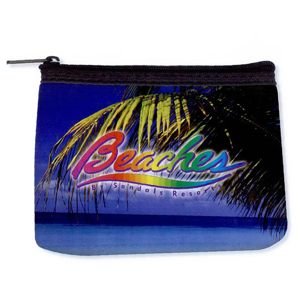 Personalized Full color neoprene coin purse
