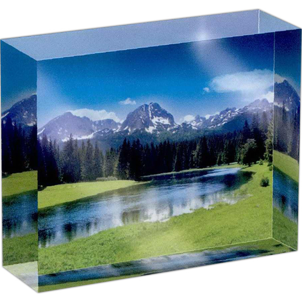 Custom Full color rectangle crystal paperweight