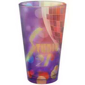Custom Full color frosted European pilsner glass - 16oz