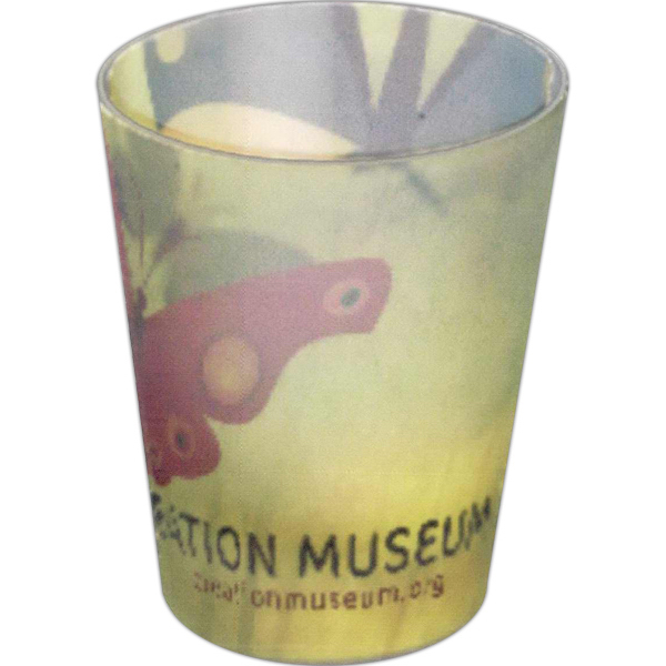 Customized Sonoma full color frosted shot glass - 1.5oz
