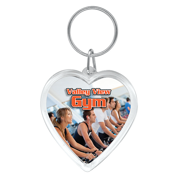Personalized Full color heart key ring
