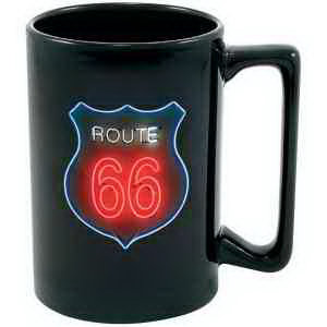 Personalized Full color black stoneware Maui mug - 15 oz