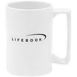 Imprinted Direct screen stoneware mug - 15oz